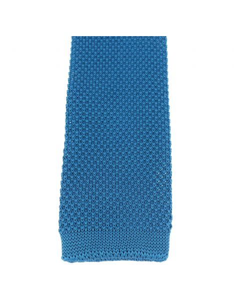 Cravate Tricot. Bleu Noble