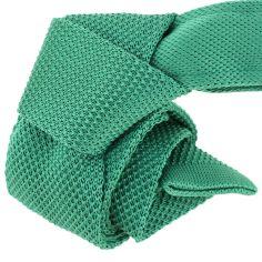 Cravate Tricot. Vert Forézien