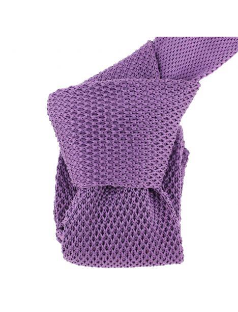 Cravate Tricot. Violet lavande intense Clj Charles Le Jeune Cravates