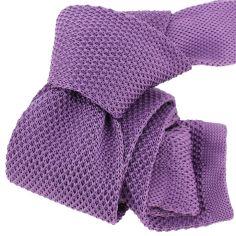 Cravate Tricot. Violet Iris