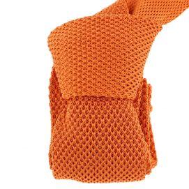 Cravate Tricot. Orange Totana
