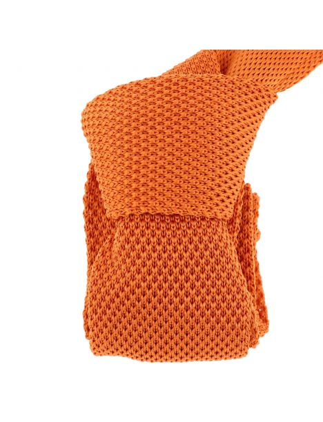 Cravate Tricot. Orange Totana Clj Charles Le Jeune Cravates