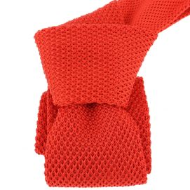 Cravate Tricot. Rouge sang de boeuf