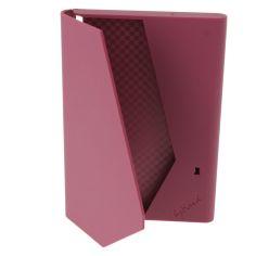 Porte Carte plastique soft framboise.