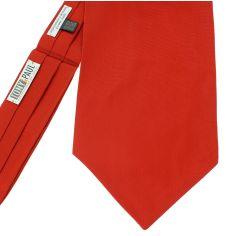 Cravate Ascot en soie,  Rouge Geraneo, Fait à la main
