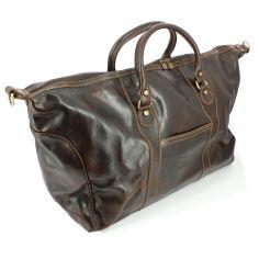 Impero, sac de voyage,  Nathalizia, cuir marron claire