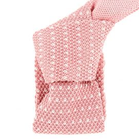 Cravate Tricot. Rose Oeuillet