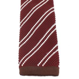 Cravate Tricot. Rouge Bordeaux