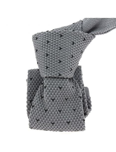 Cravate Tricot. Gris Building Clj Charles Le Jeune Cravates