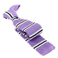 Cravate Tricot. Mauve Lilas