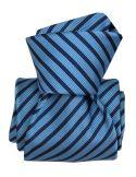 Cravate Luxe Segni Disegni, Mogador, Brescia, deux bleus Segni et Disegni Cravates