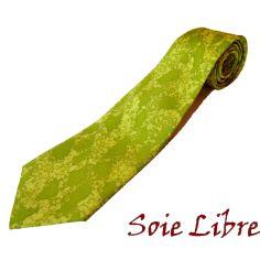 Cravate, Pièce unique peinte à la main. Vert de Athène Soie libre Cravates