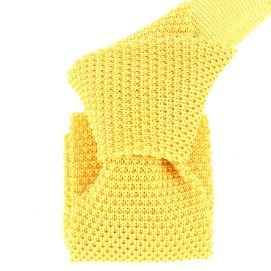 Cravate Tricot Jaune Ginestra, soie, Tony & Paul