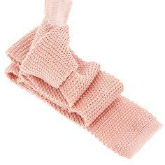 Cravate Tricot Rose Crocus, soie, Tony & Paul