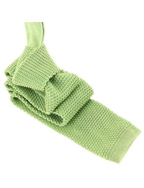 Cravate Tricot Vert Mela, soie, Tony & Paul