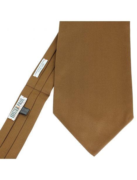 Cravate Ascot en soie, Tabacco, Fait à la main