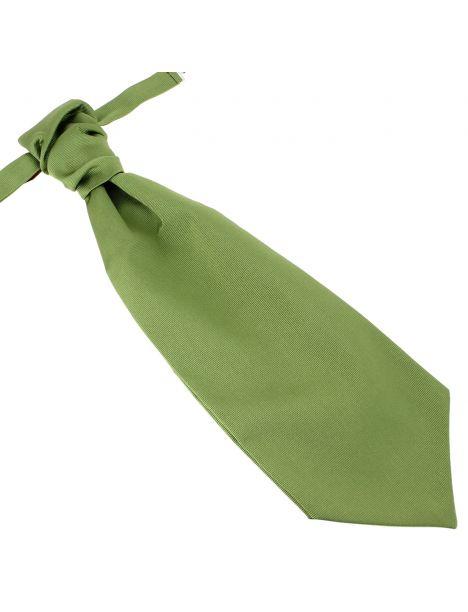 Lavallière nouée en soie, vert Mela, Faite à la main Tony & Paul Cravates