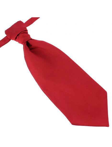 Lavallière nouée en soie, Rouge Sangue, Faite à la main Tony & Paul Cravates