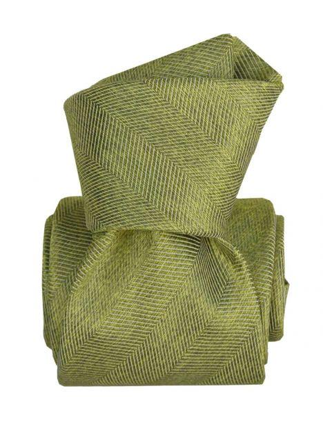 Cravate Segni Disegni LUXE, Faite main. Acireale Vert Segni et Disegni Cravates