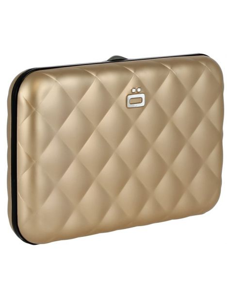 Porte carte Rose Gold Quilted button Ogon Designs Petite Maroquinerie