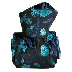 Cravate Segni Disegni LUXE, Faite main. Pivoines Bleu