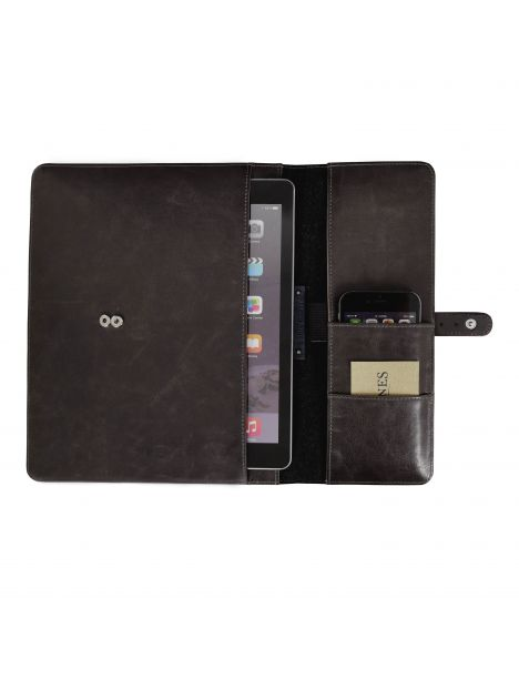 Housse de rangement Ipad en cuir, Jacob et Jones, Marron Jacob Jones Etuis Tablettes