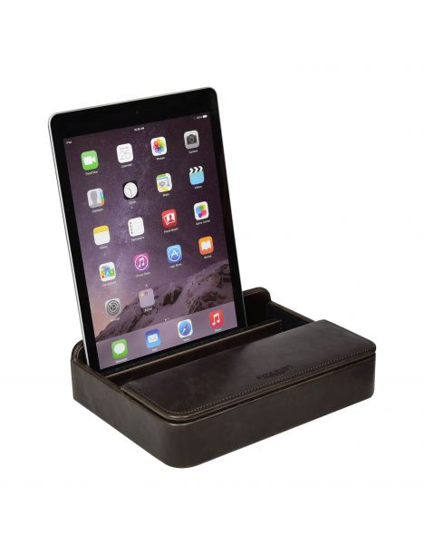 Ecrin porte Ipad et rangement de bureau. Jacob et Jones. Marron Jacob Jones Etuis Tablettes