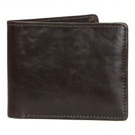 Portefeuille en cuir Jacob Jones, marron