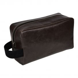 Trousse de toilette cuir,Jacob Jones, marron