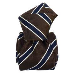 Cravate Classique Segni et Disegni- Savone Marron foncé