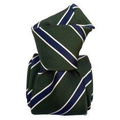 Cravate Classique Segni et Disegni- Savone vert Kaki