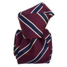 Cravate Classique Segni et Disegni- Savone Bordeaux