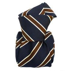 Cravate Classique Segni et Disegni- Savone bleu Marine