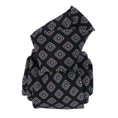 Cravate Classique Segni et Disegni- Mogador Vesuve Bleu