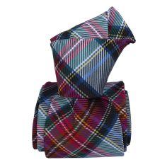 Cravate soie Classique Segni Disegni, Verone grise