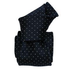 Cravate soie Classique Segni Disegni, Boretto bleu