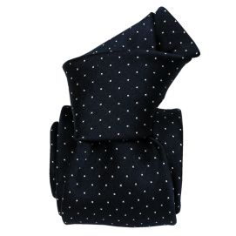 Cravate soie Classique Segni Disegni, Palerme bleu marine