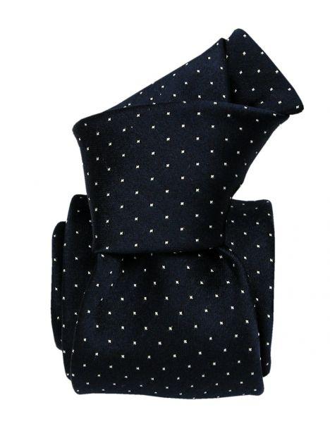 Cravate soie Classique Segni Disegni, Palerme bleu marine Segni et Disegni Cravates