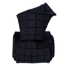 Cravate soie Classique Segni Disegni, Bergame bleu marine