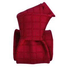Cravate soie Classique Segni Disegni, Bergame rouge