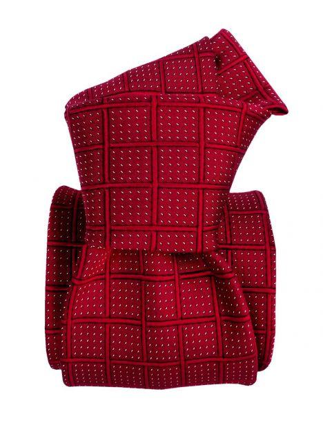 Cravate soie Classique Segni Disegni, Bergame rouge Segni et Disegni Cravates