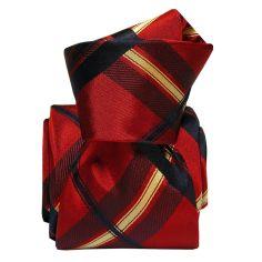 Cravate Segni Disegni LUXE, Faite main, Rimini, Rouge Segni et Disegni Cravates
