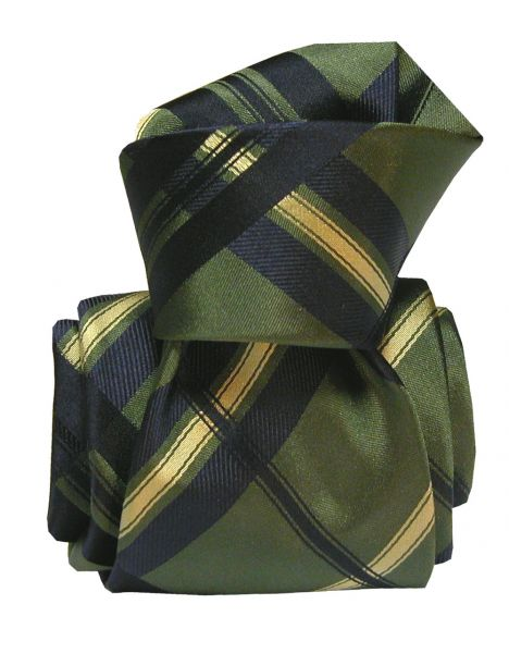 Cravate Segni Disegni LUXE, Faite main, Rimini, Verte Segni et Disegni Cravates