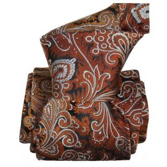 Cravate LUXE Segni Disegni 100% Faite main: Toscane, Rouille