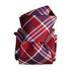 Cravate Segni Disegni LUXE, Faite main, Livigno, Rouge Segni et Disegni Cravates