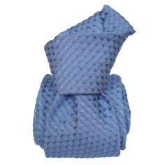 Cravate Segni Disegni LUXE, Faite main. Alba Bleu