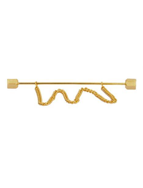Epingle à col de chemise, chaine Gold Cravate Avenue Signature Pinces à cravates