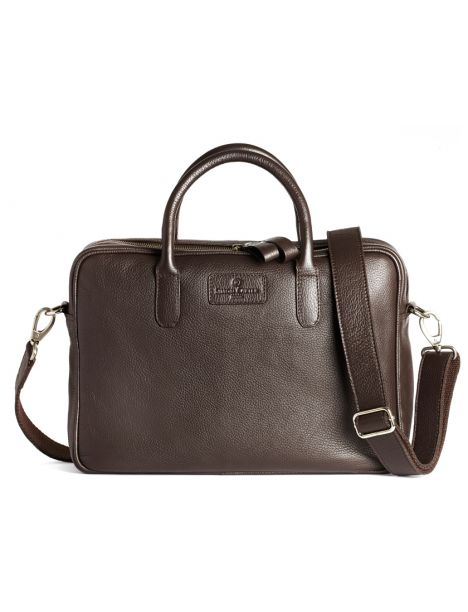 Sac homme, SIMON CARTER, Hove brown en cuir Simon Carter Serviettes - Business