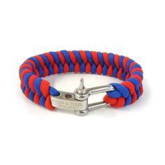 Bracelet, tissé Tyler and Tyler Zig Zag Rouge et Bleu