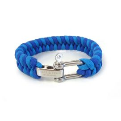 Bracelet, tissé Tyler and Tyler Zig zag Bleu et Bleu ciel